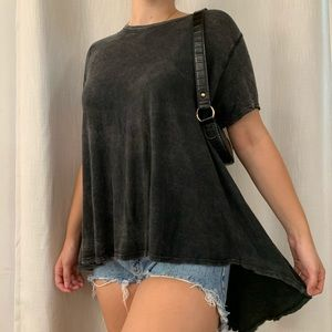Free People oversized high-low top